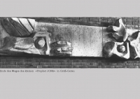 23 DOC _ 37 1965 Betonguss Kleiner Prophet Jona A.T. lks. Jona verlassen r. unter dem Rhizinusbaum