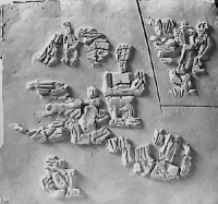 Entwurfsskizze Ziegelmauerrelief